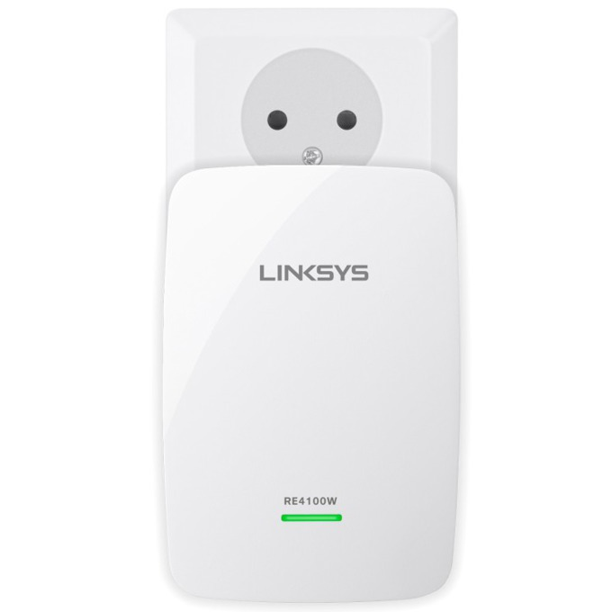 Extender/Екстендър, Linksys RE4100W, Dual-Band, 2.4/5GHz (600 Mbps), 1 x 10/100 Ethernet Port, 3.5mm жак за колони image