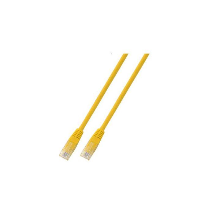 Пач кабел UTP EFB Elektronik, 3m, Cat 5E, жълт image