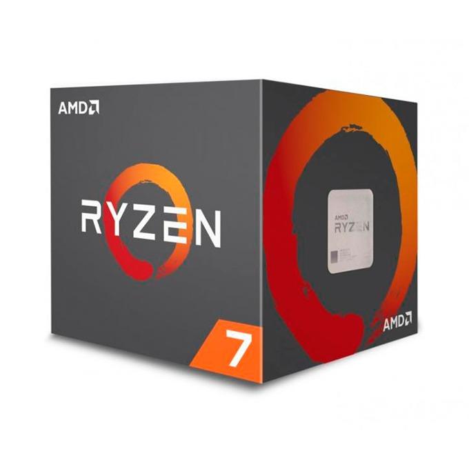 Процесор AMD Ryzen 7 2700X осемядрен (3.7/4.3GHz, 4MB L2/16MB L3 Cache, AM4) BOX, с охлаждане Wraith Prism image