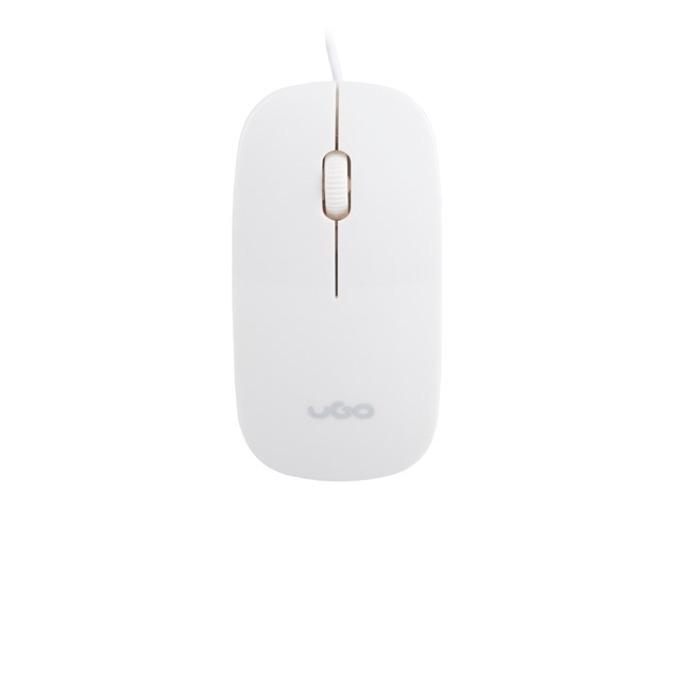 Мишка uGo MY-06, оптична (1200 dpi), USB, бяла image