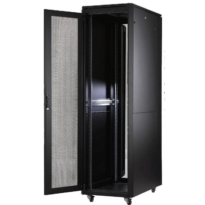 Комуникационен шкаф MIRSAN MR.GTAPS42U61.11 Alter PLUS Server, 600 x 1000 x 2053 мм / 42U, D=1000 мм, 600 кг товар, черен, свободно стоящ image