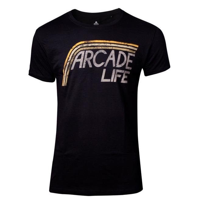 Тениска Bioworld Atari - Arcade Life, размер S, черна image