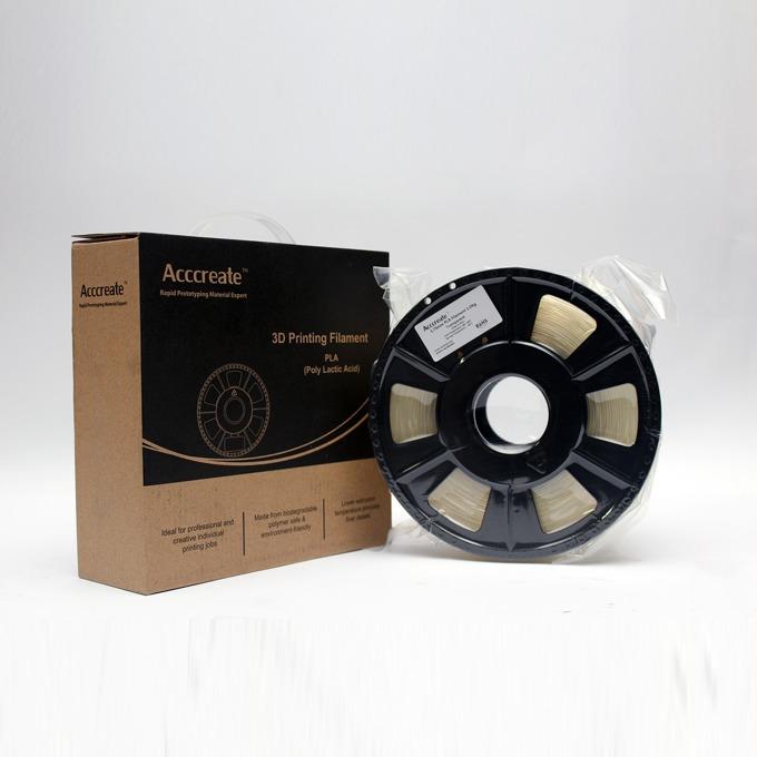 Консуматив за 3D принтер Acccreate, ABS filament, 1.75mm, безцветен, 1kg image