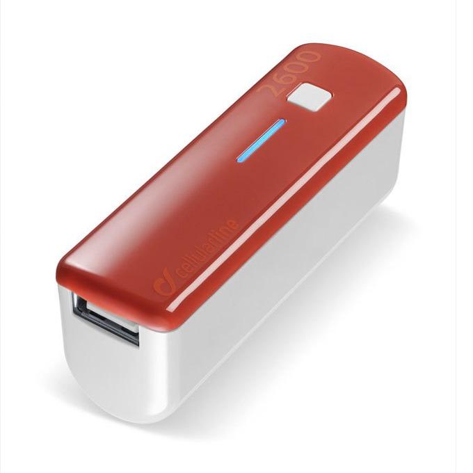 Външна батерия/power bank/ Cellular Line, 2600mA, оранжева, 1x USB image
