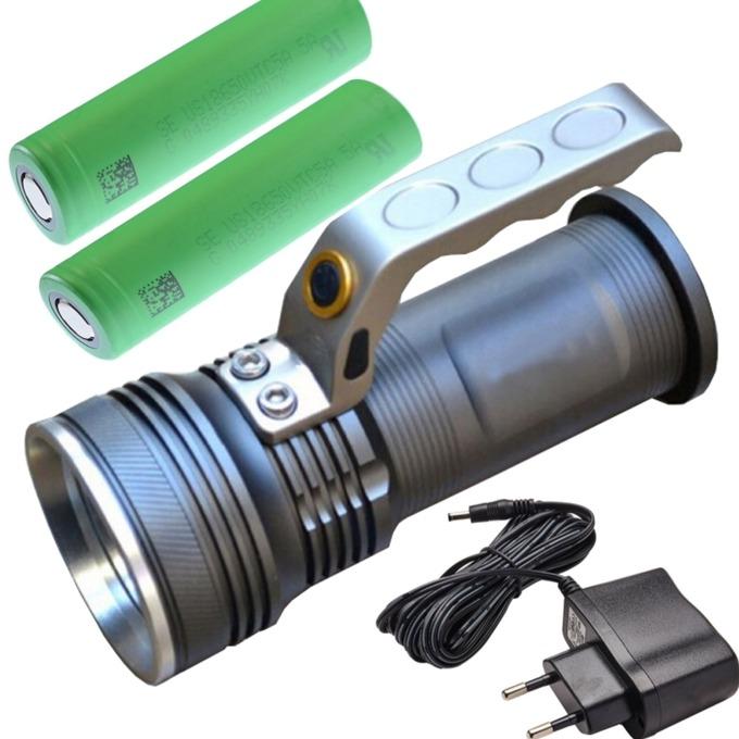 Фенер Cree BL-690, 2x 18650 батерии, ръчен, черен image