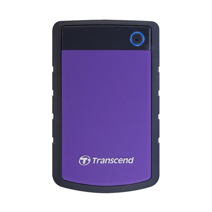 "500GB Transcend StoreJet, лилав, външен, 2.5"" (6.35cm), USB 3.0, удароустойчив 3г.гаранция  image"