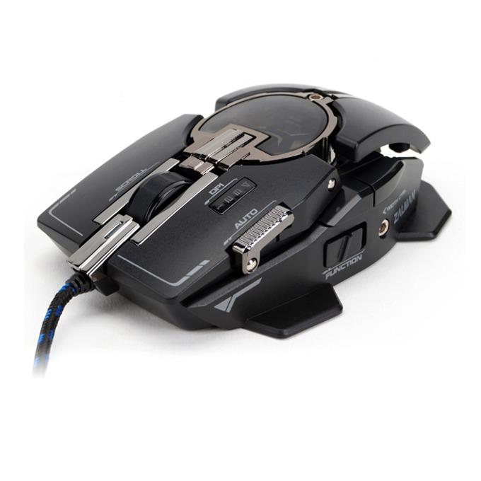 Мишка Zalman Knossos ZM-GM4, гейминг, лазерна (8200dpi), черна, USB image