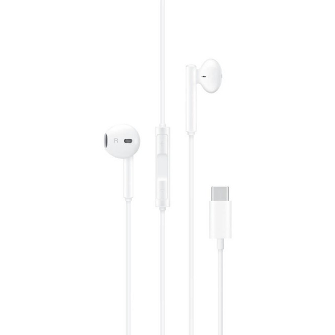 Слушалки Huawei CM33, микрофон, USB-C, бели, bulk image