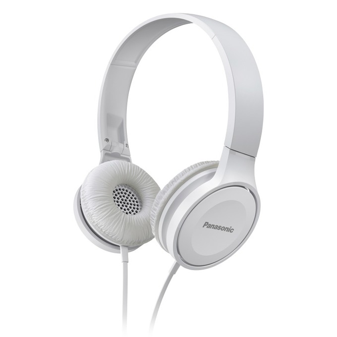 Слушалки Panasonic RP-HF100E, никелиран жак, 1.2 м кабел, бели  image