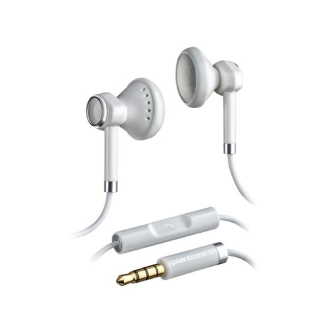 """Слушалки Plantronics BACKBEAT 116, бели, микрофон, тип """"тапи"""", 3.5 mm позлатен жак  image"""