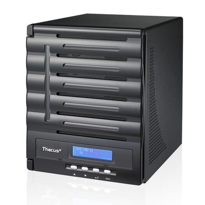 Thecus N5550, дву-ядрен Intel Atom D2550 1.86 GHz, без твърд диск (5x SATA), 2GB DDR3 RAM, USB 3.0, Lan1000, HDMI, 2г. image