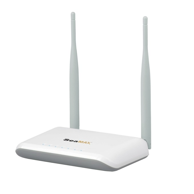 Рутер SeaMAX SA-WR314N, 300Mbps, 2.4GHz(300Mbps), Wireless N, 4x LAN100, 1x WAN100, 2x 5dBi външни антени image