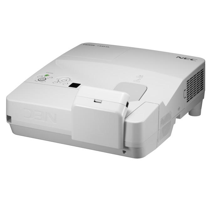 Проектор NEC UM361Xi, LCD, XGA (1024x768), 6000:1, 3600 lm, VGA, HDMI, RS232, RCA, USB, LAN, бял image