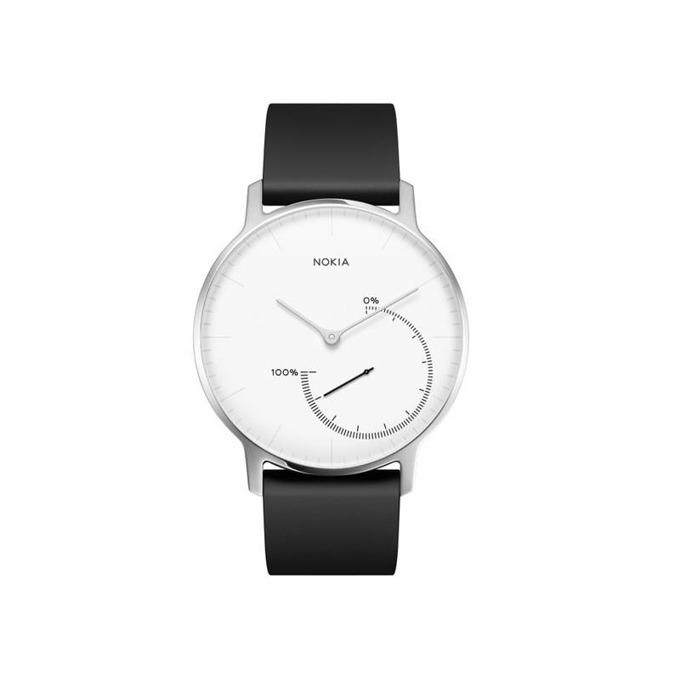 Смарт часовник Nokia Steel Smartwatch, Bluetooth 4.0, черен/бял image