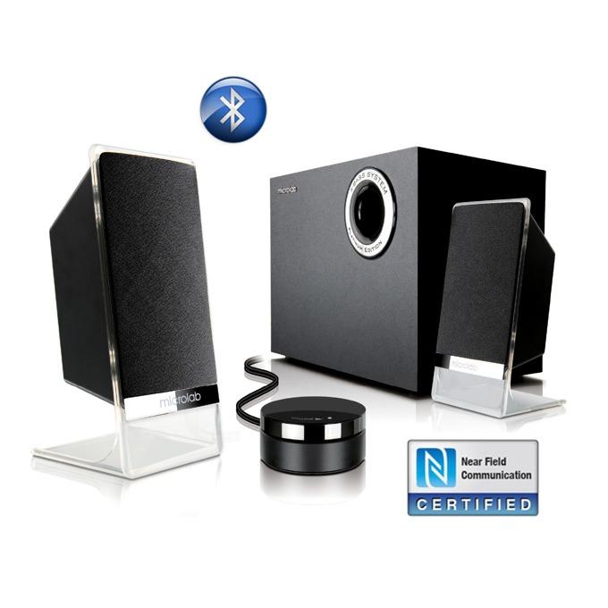 Тонколони Microlab M 200 Platinum, 2.1, 50W RMS, Bluetooth, NFC, черни image