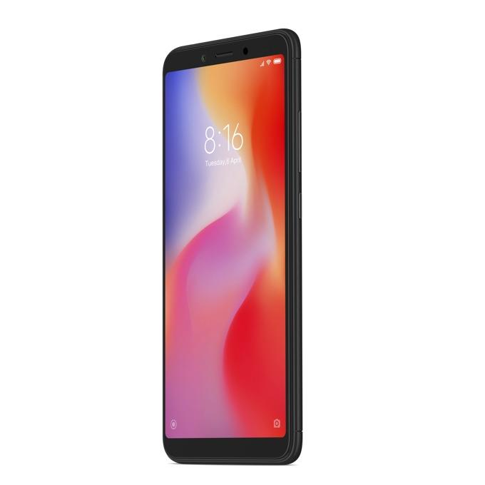 "Xiaomi Redmi 6 (черен), поддържа 2 sim карти, 5.45"" (13.84 cm) WSXGA дисплей, осемядрен Mediatek MT6762 2.0 GHz, 3GB RAM, 32GB Flash памет (+ microSD слот), 12.0 & 5.0 MPix camera, Android, 146 g image"