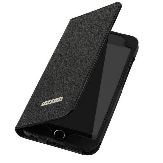 Калъф за iPhone 6, кожен, HUGO BOSS Folianti Booklet, луксозен, черен image