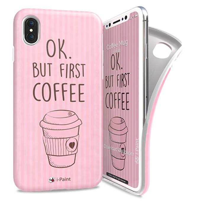 Калъф за Apple iPhone XS, термополиуретанов, iPaint Coffee Mug Soft 840101, щампа image