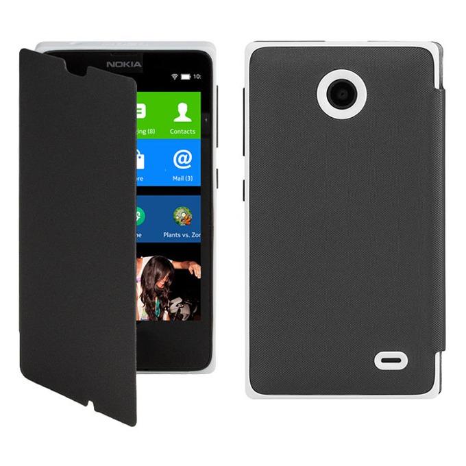 Калъф за Nokia X, Flip cover, черен image