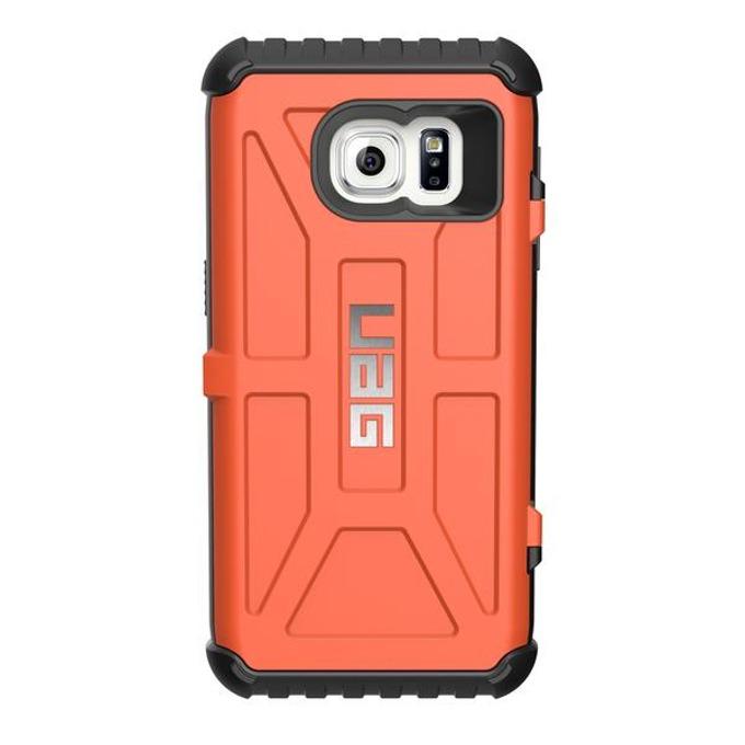 Калъф за Samsung Galaxy S7, страничен протектор с гръб, гумен, Urban Armor Gear Scout Card, отделение за кр.карти, оранжев image