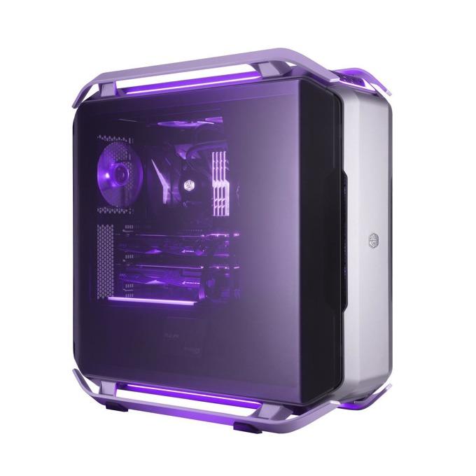 Кутия Cooler Master COSMOS C700P, E/ATX/mATX/miniITX, 4x USB 3.0, 1x USB 3.1 Gen2 Type C, извит прозрачен темпериран панел, модулна, RGB подсветка, без захранване image