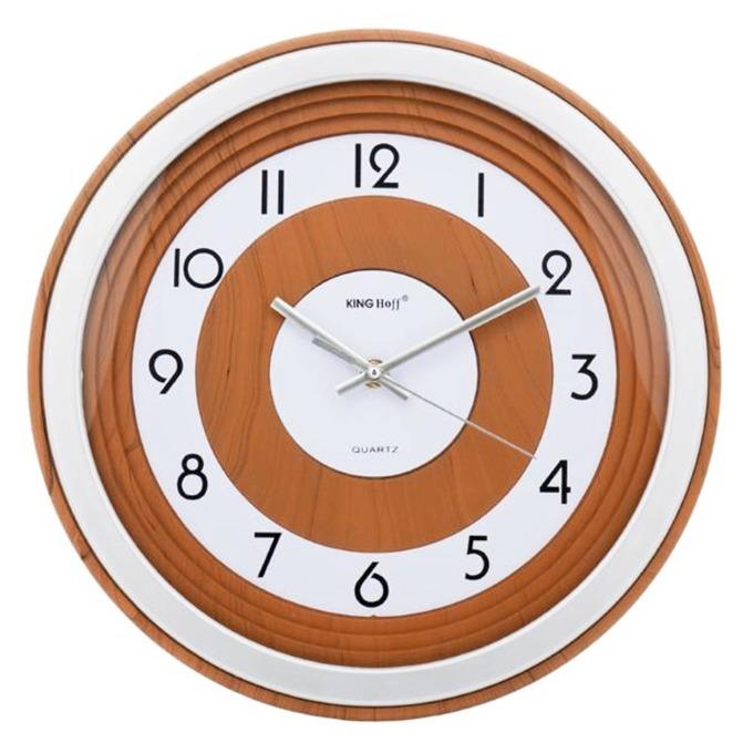 Часовник KingHoff KH-5023, аналогово указание, кафяв/бял image
