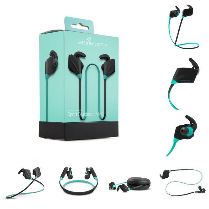 Слушалки Energy Sistem Earphones Sport, безжични, микрофон, Bluetooth, мента image