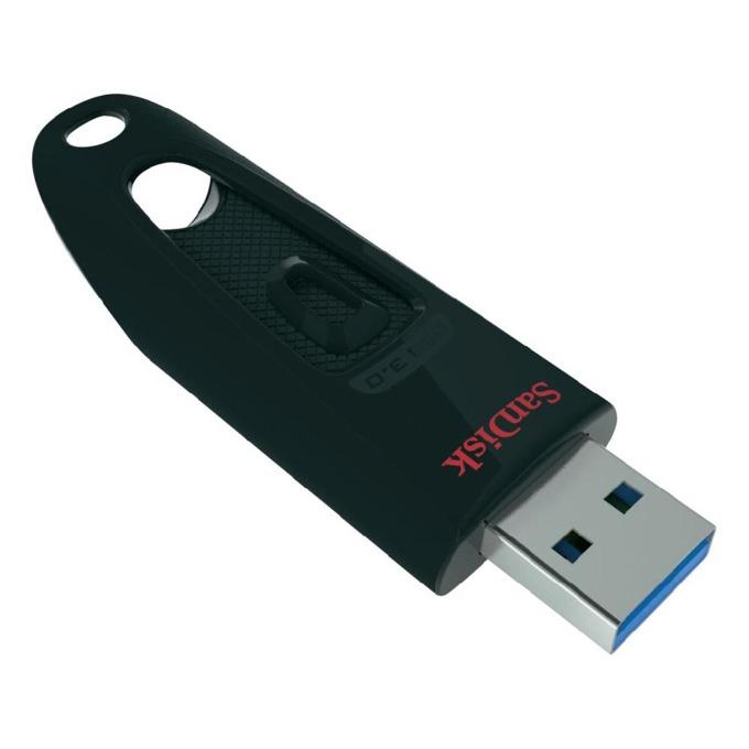 32GB USB Flash Drive, SanDisk Ultra, USB 3.0, черна image