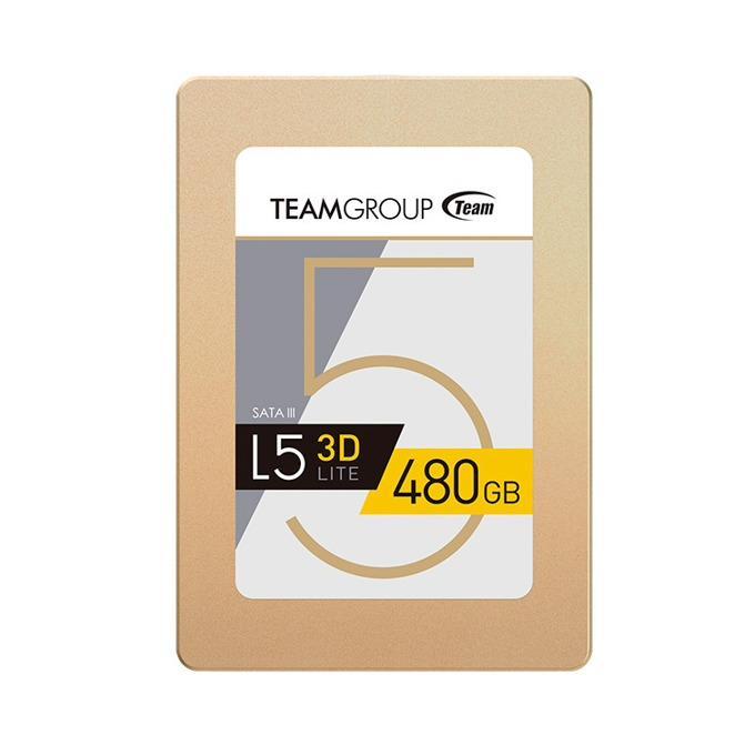 """Памет SSD 480GB Team Group L5 LITE 3D, SATA 6Gb/s, 2.5""""(6.35 cm), скорост на четене 470MB/s, скорост на запис 420MB/s image"""