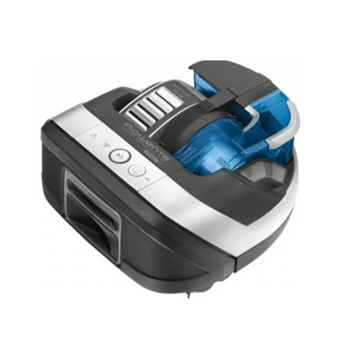 Прахосмукачка Rowenta SmartForce Cyclonic RR8021WH, робот, безжична, 0.3 л. капацитет на контейнера, до 60 мин. работа, 3 режима, черна image