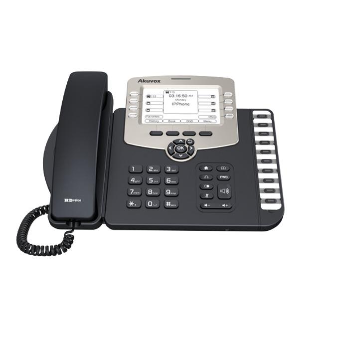 VoIP Телефон, Akuvox SP-R59P, 480*272-pixel екран, PoE, 6 линии image