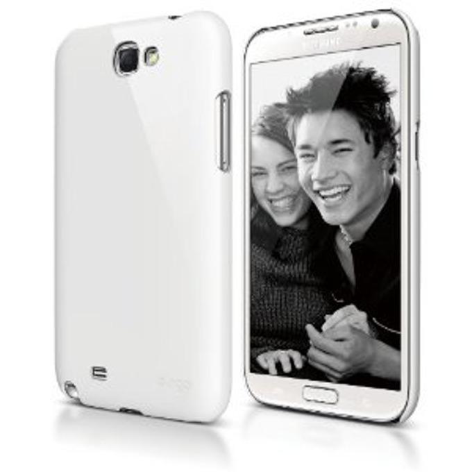 Поликарбонатов протектор Elago G6 Slim Fit за Samsung Galaxy Note 2 N7100, бял, HD покритие image