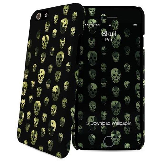 Протектор и скин iPaint Skull HC Case за iPhone 6 image