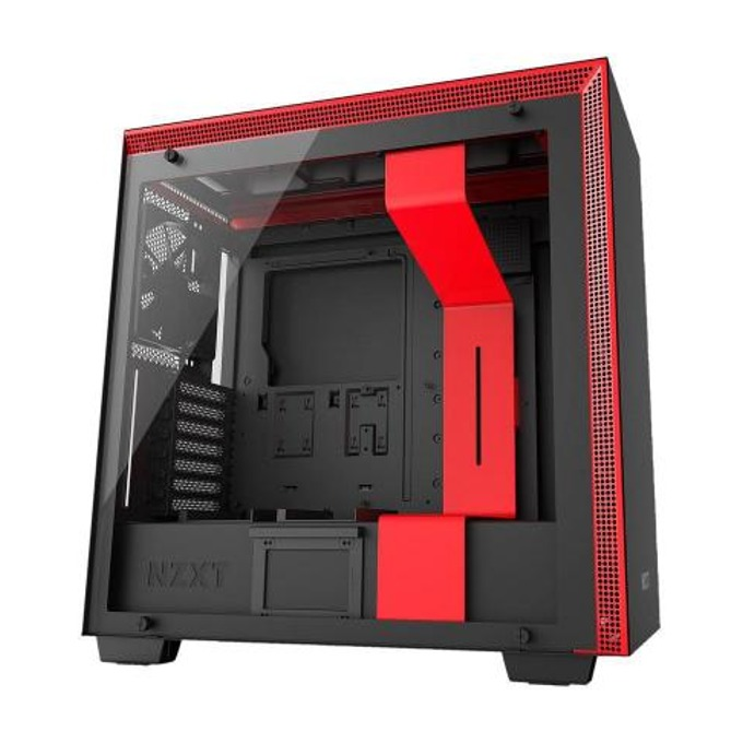 Кутия NZXT H700i, 2 x USB3.1, ATX/mATX/miniITX, с прозорец, черна/червена, без захранване image