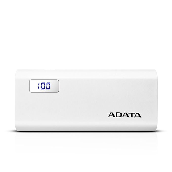 Външна батерия/power bank/ A-Data P12500D, 12500mAh, бяла image