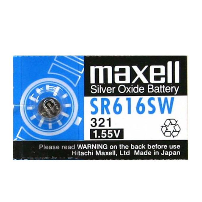 Батерия сребърна Maxell SR, SR616SW, 1.55V, 1 бр.  image