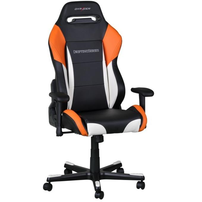 Геймърски стол DXRacer Drifting OH/DF61/NWO, черен/оранжев/бял image