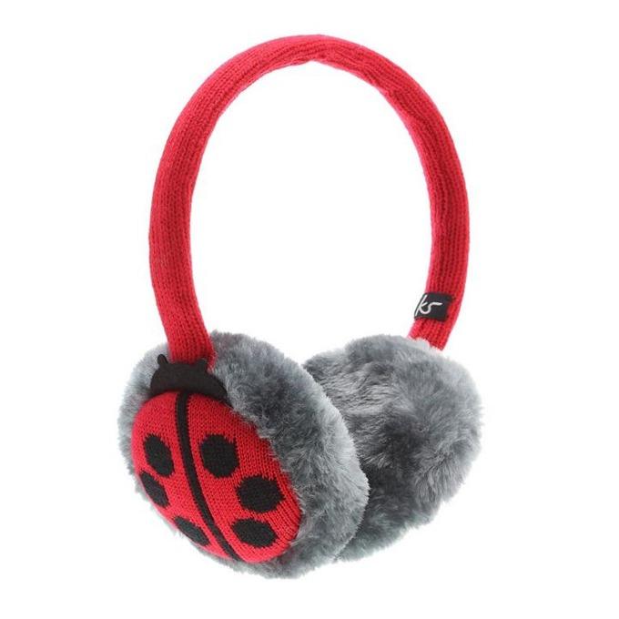 Слушалки KitSound Ladybird Earmuffs, червени, с ушанки image