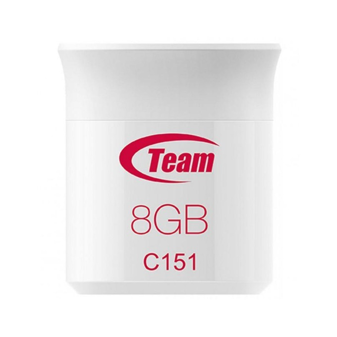 Памет 8GB USB Flash Drive, Team Group C151, USB 2.0, бял image