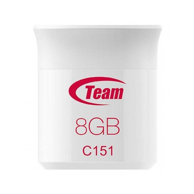 Памет 8GB USB Flash Drive, Team Group C151, USB 2.0, бял image