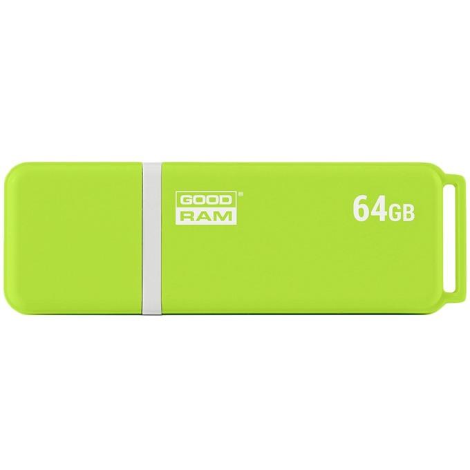 64GB USB Flash Drive, Goodram UMO 2, USB 2.0, зелен image