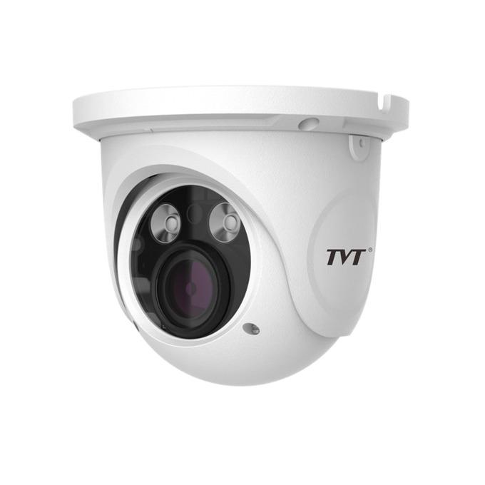 IP камера TVT TD-9442E2(D/PE/IR2), куполна, 4 Mpix(2592×1520@25FPS), 3-12mm обектив, H.265/H.264/MJPEG, IR осветеност( до 30 метра), външна IP66, PoE, 1x RJ-45 image