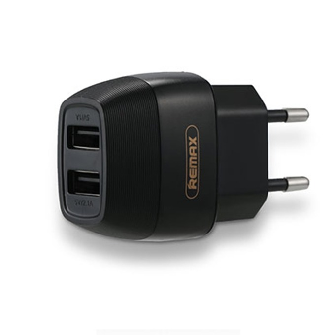 Зарядно устройство Remax Flinc RP-U29, от контакт към, 2 х USB А(ж), 5V/2,1A бяло, черено image