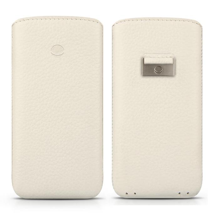 Калъф за Apple iPhone 7/6/6S, джоб, кожен, Beyza Retro Strap, бял image