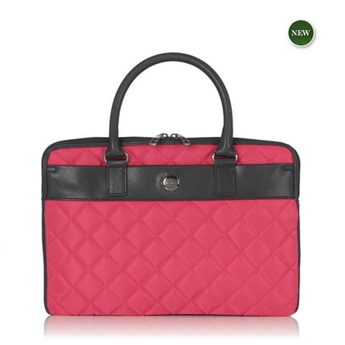 """Чанта за лаптоп Knomo Avignon 13 X-slim Brief, до 13"""" (33.02 cm), дамска, кожена, розова image"""