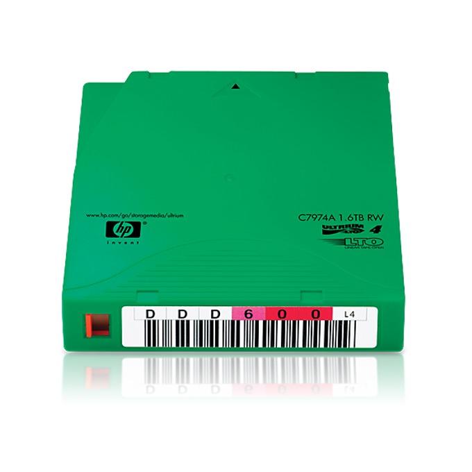 HP LTO-4 Ultrium 1.6TB Non-custom Label Data Cartr