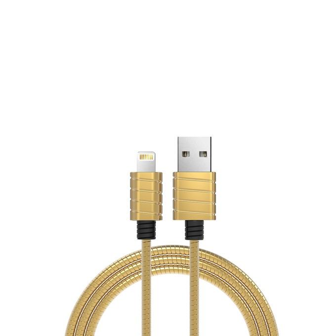 Кабел iWalk, USB(м) към Lightning(м), 1m, златист image