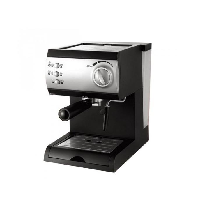 Ръчна еспресо кафемашина Crown CEM-1515, 1050 W, 15 bar, 1,5 л. резервоар, крема диск, защита от прегряване, черна  image