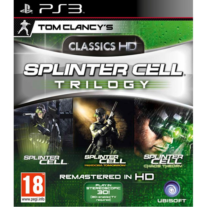 Игра за конзола Tom Clancy's Classics HD Splinter Cell Trilogy, за PlayStation 3 image