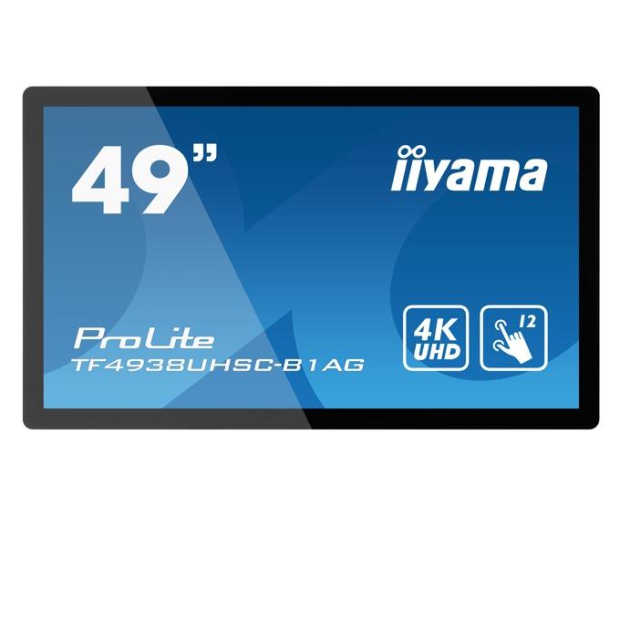"Интерактивен дисплей IIYAMA TF4938UHSC-B1AG, 48.5""(123.2 cm), Capacitive Multi Touch, VGA, HDMI, DVI-D, DisplayPort, RS232, LAN image"